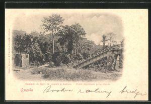 AK Loanda, Caminho de ferro de Loanda a Ambaca, Ponte derruba pelas chuvas