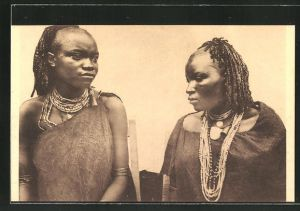 AK Urundi, Junge Frauen vom Stamm der Batutsi