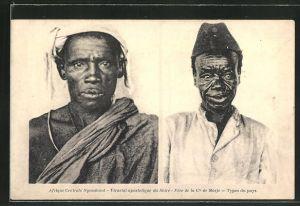 AK Nyasaland, Vicariat apostolique du Shire, Pere de la Cie de Marie, Types du pays