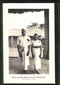 AK Malawi, Mission du Shire des Peres Montfortains, Deux jeunes maries