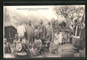 AK Malawi, Mission du Shire des Peres Montfortains, Scene de Village