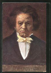 AK Bildnis vom Komponist Ludwig van Beethoven