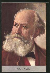 AK Bildnis vom französischen Komponist Charles Gounod