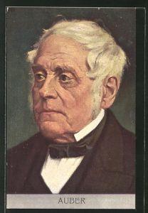 AK Bildnis vom französischen Komponist Daniel-Francois-Esprit Auber
