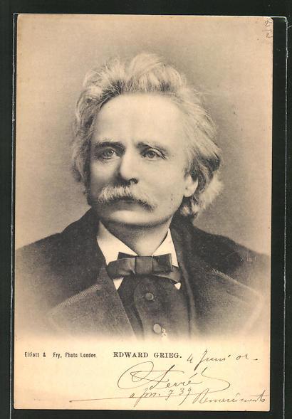 AK Edward Grieg im Portrait