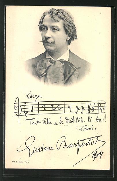 AK Bildnis von Gustave Charpentier