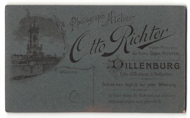 Fotografie Otto Richter, Dillenburg, Ansicht Dillenburg, Partie am Kirchturm