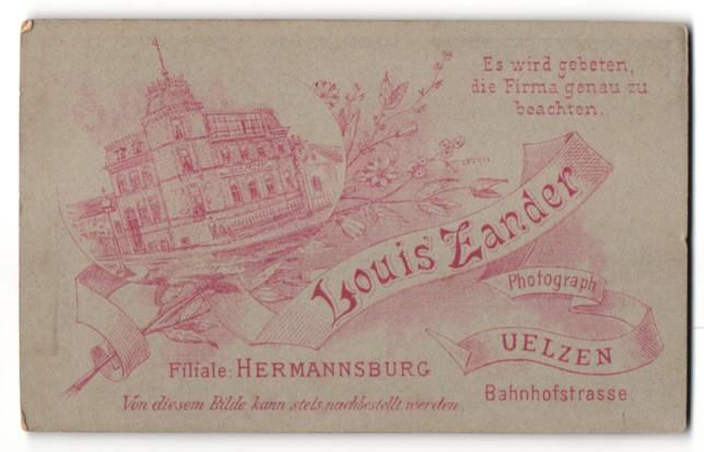 Fotografie Louis Zander, Uelzen, Ansicht Uelzen, Geschäftshaus in der Bahnhofstr.