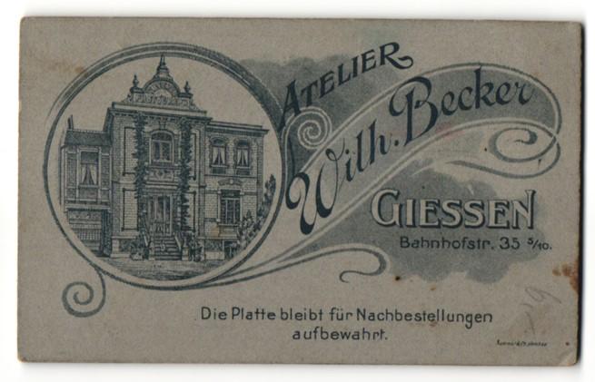 Fotografie Atelier Wilhelm Becker, Giessen, Ansicht Giessen, Geschäftshaus Bahnhofstr. 35
