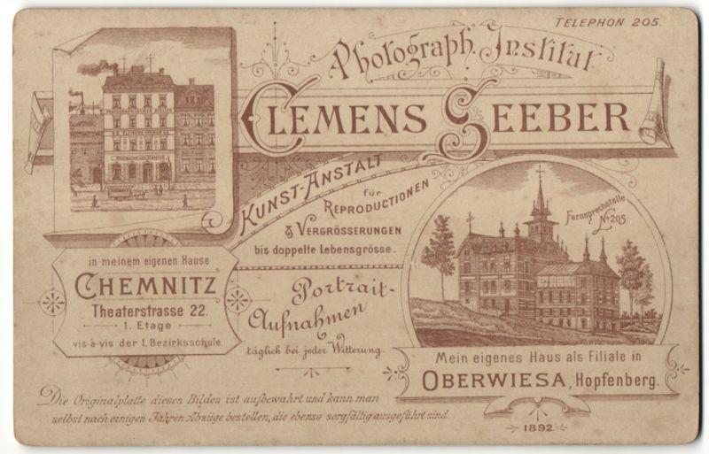 Fotografie Clemens Seeber, Chemnitz, Ansicht Chemnitz, Geschäftshaus Theaterstr. 22 & Villa in Oberwiesa