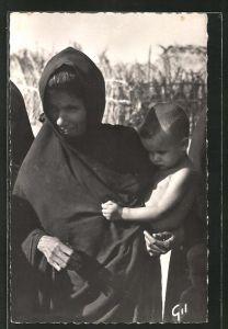 AK Mauritanie, Type de Femme, Frau mit Kind auf dem Arm