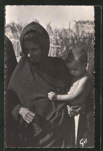 AK Mauritanie, Type de Femme, Frau mit Kind