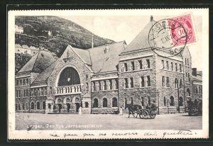 AK Bergen, Den Nye Jernbanestation, Bahnhof