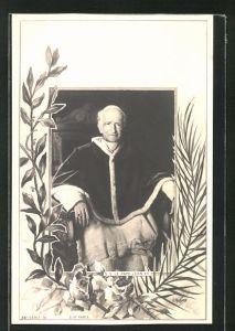 AK Papst Leo XIII. sitzt in seinem Sessel