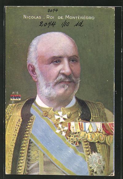 AK Montenegro, Nicolas, Roi de Montenegro