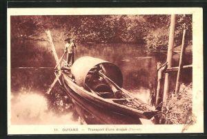 AK Guyane, Transport d'une drague