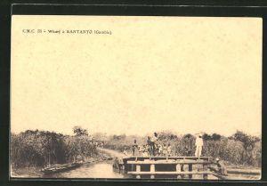 AK Bantanto, Wharf at Bantanto, Hafen