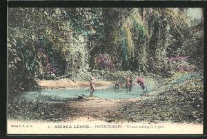 AK Sierra Leone, Women bathing in a pool