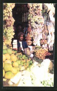 AK Kabul, Fruit Bazaar, Händler mit Früchten