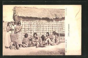 AK Paraguay, Indios Paraguayos, Indianer
