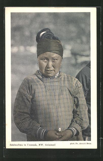 AK Grönland, Eskimofrau in Umanak