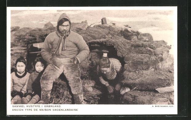 AK Grönland, Gammel Hustype I Gronland, Ancien Type de Maison Groenlandaise