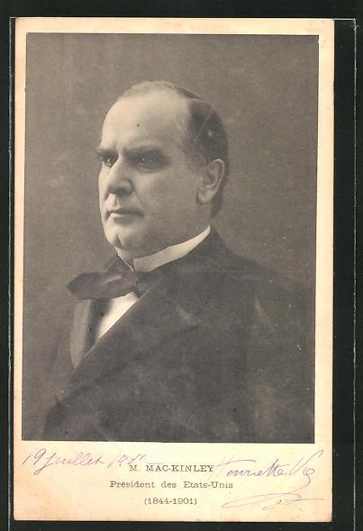 AK Präsident der USA M. Mac-Kinley, 1844-1901