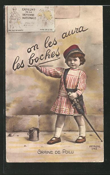 AK Kinder Kriegspropaganda, Graine de Poilu