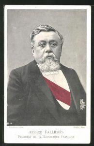 AK Armand Fallieres, President de la Republique Francaise
