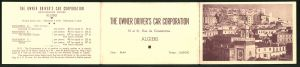 Klapp-AK Algiers, Panorama, The Owner Driver's Car Corporation, Rue de Constantine, Reklame