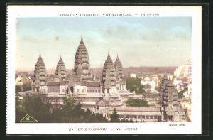 AK Paris, Exposition coloniale internationale 1931, Temple d'Angkor-Vat, Vue Laterale
