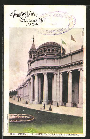 AK St. Louis, Wolrd's Fair 1904, Corner Varied Industries Building