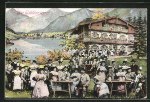 AK Schlierseer Bauerntheater Dir. Xaver Terofal, Trachtenkapelle