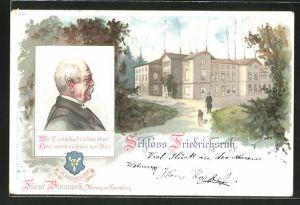 AK Friedrichsruh, Fürst Bismarrk, Herzog von Lauenburg, Schloss Friedrichsruh