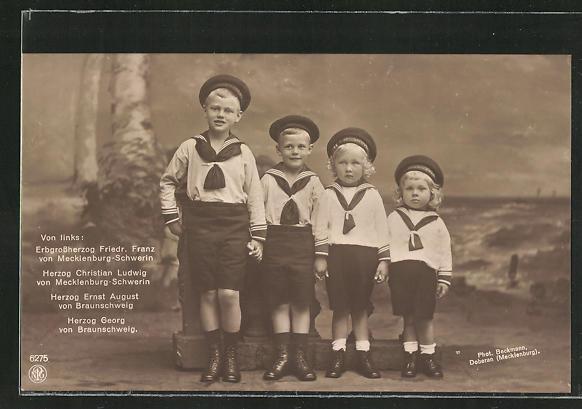 AK die Söhne des Herzogs von von Mecklenburg-Schwein und von Braunschweig