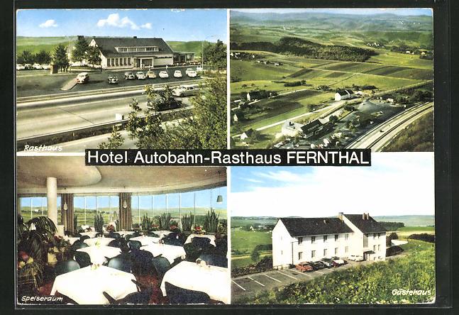 AK Neustadt-Fernthal, Hotel Autobahn-Rasthaus Fernthal