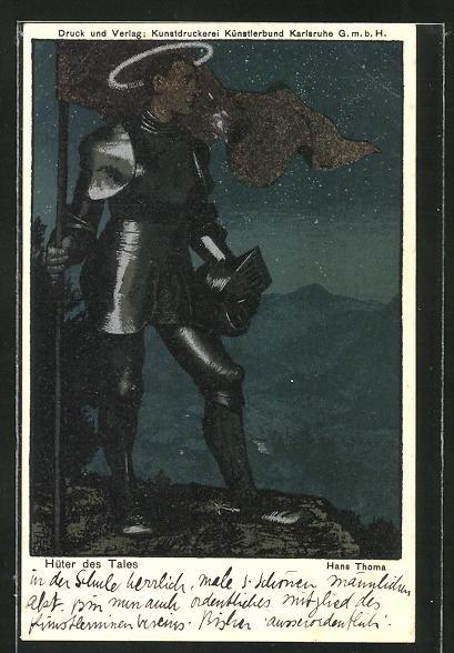 Künstler-AK Hans Thoma: Hüter des Tales
