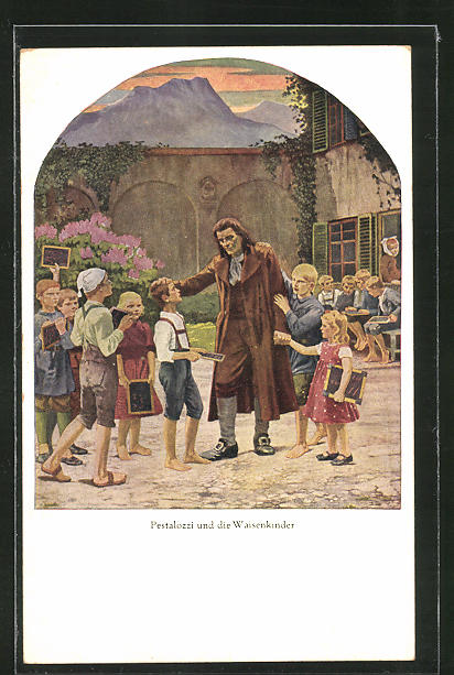 AK Pestalozzi und die Waisenkinder