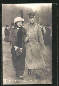 AK Ernst August Herzog von Braunschweig und Prinzessin Viktoria Luise