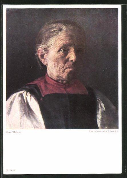 Künstler-AK Hans Thoma: Die Mutter des Künstlers