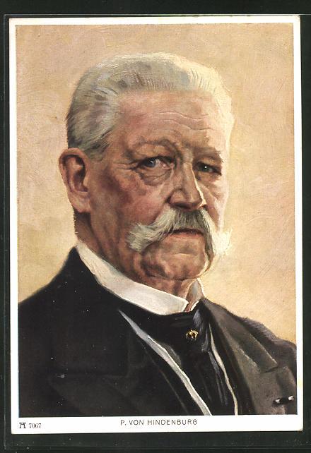 Künstler-AK Hans Toepper: P. von Hindenburg
