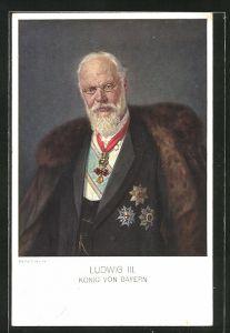 Künstler-AK Walther Firle: König Ludwig III. mit Orden