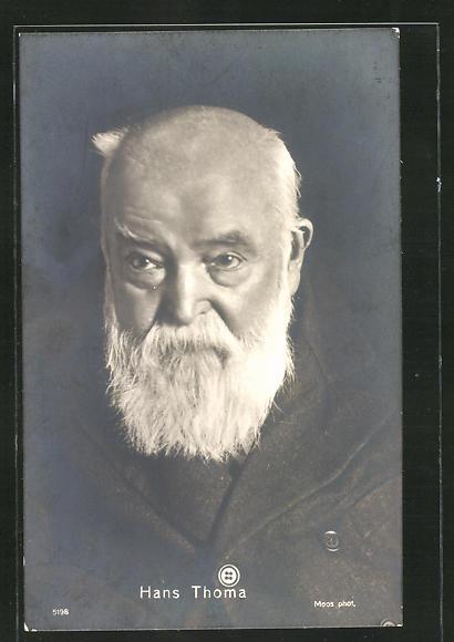 Künstler-AK Hans Thoma: Fotografisches Portrait des Künstlers Hans Thoma