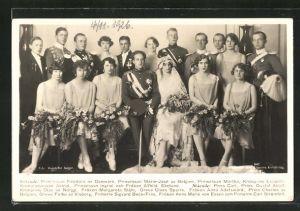 AK Prinzessin Marie-José von Belgien mit Prinzessin Feodora von Dänemark, Prinzessin Märtha