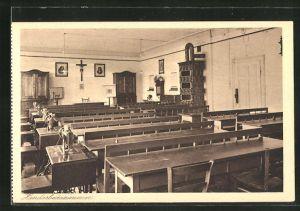 AK Au am Inn, Handarbeitszimmer des Erziehungsinstitut mit höherer Mädchenschule