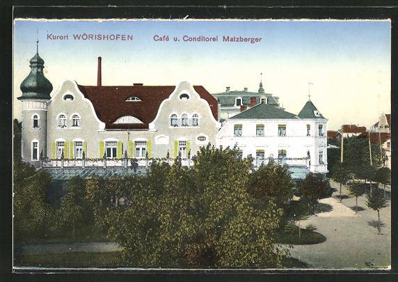 AK Bad Wörishofen, Cafe und Conditorei Matzberger
