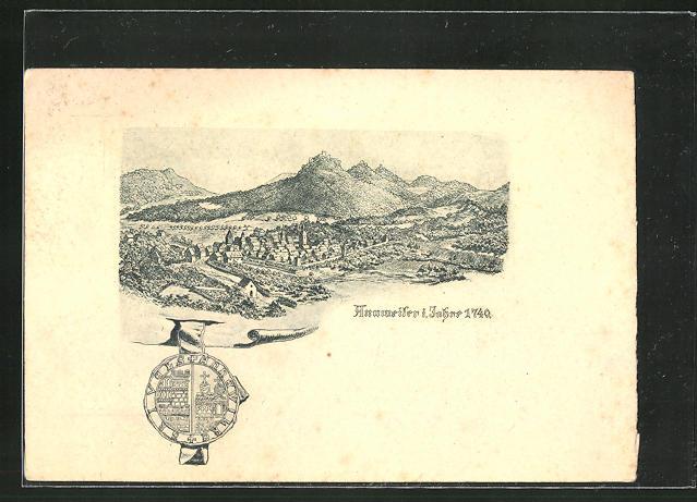 AK Annweiler, Ortspartie aus dem Jahre 1740 0