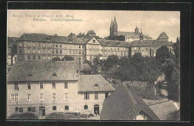 AK Fritzlar, Rauch Führer d. Fritzlar, Abb. No. 9, Blick auf das Ursulinenkloster