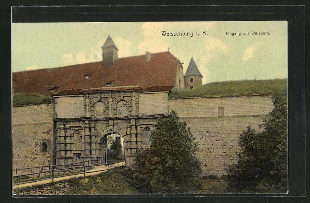 AK Weissenburg i. B., Eingang zur Wülzburg