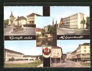 AK Lippstadt, verschiedene Orts- und Strassenansichten